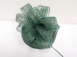 Forest dark Green 2 or 25 metres 25mm Fasbo Pull Bow Ribbon Roll Craft Double Side Bows UK
